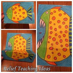 friendly fish or piranha - Folded Art Surprise!: