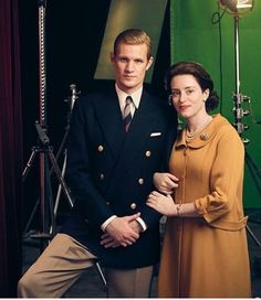 Matt Smith and Claire Foy for The Crown, season 2