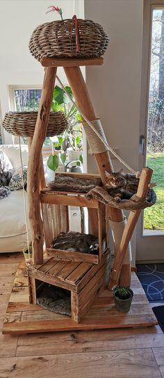 Cat Tree House, Cat House Diy, Cat Castle, Diy Cat Tree, Cat Hacks, Cat Towers, Cat Playground, Animal Room, Cat Enclosure