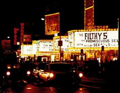 1970s Times Square New York City 42nd Street Movie Marquee Theatres