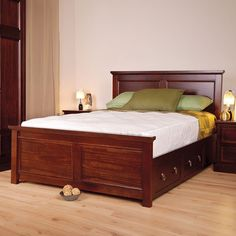 """Sweet Dreams Wagner Mahogany 4ft 6"""" Double Bed"""