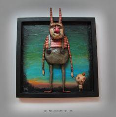The Little King by HernandezEdgarArt on Etsy, $599.00 Sculpture Art, Sculptures, Little King, Lowbrow Art, Paperclay, Assemblage Art, Weird Art, Polymer Clay Art, Types Of Art