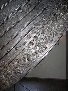 Osberg ship - Viking ship discovered in a large burial mound at the Oseberg farm near Tønsberg in Vestfold, Norway