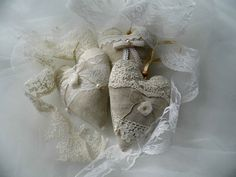 Wedding hearts rustic wedding decoration by MelindasSewingCorner