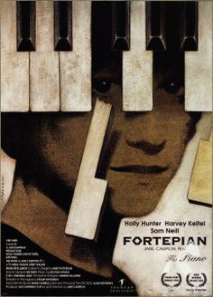 Fortepian (The Piano) - Andrzej Pągowski's poster to Jane Campion's 1993 movie. One of the best, yet a bit traumatizing movies I've seen. (via: gapla.fn.org.pl)
