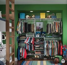 "Boy's Closet from ""Getting Organized: Kids' Rooms"""