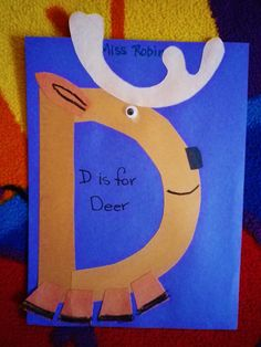 Learning D is for Deer! More