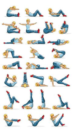 Pilates Fitness Exercises - Core Stretches, Postures and Workouts ...