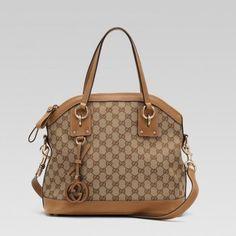 247279 F4clg 9662 Gucci Charm Medium Top Griff Tasche mit Leder ich Gucci Damen Handtaschen