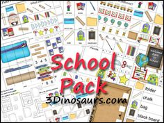 Free School Pack for ages 2 to 7 from 3Dinosaurs.com. Over 60 pages of activities.