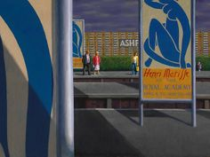 Matisse at Ashford, by Jeffrey Smart :: The Collection :: Art Gallery NSW Australian Painting, Australian Artists, Charles Sheeler, Jeffrey Smart, Magic Realism, Smart Art, Fine Art Auctions, Art Database, French Artists