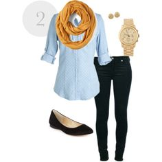 Easy to put together with the right chambray denim shirt