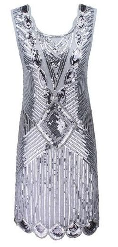 PrettyGuide Women's 1920s Gatsby Sequin Art Deco Scalloped Hem Inspired Flapper  #PrettyGuide #Flapper