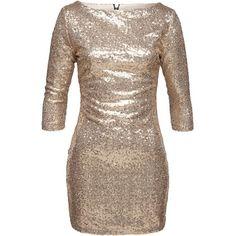 Auffälliges Kleid in Gold von Glamourous. Das Kleid ist über und über mit Pailletten verziert und sorgt so für einen super festlicheen Partylook!