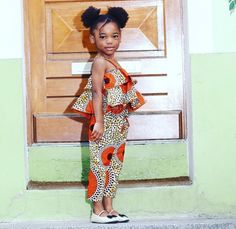Look at this Gorgeous latest african fashion look Ankara Styles For Kids, African Dresses For Kids, African Babies, African Children, African Print Dresses, African Fashion Dresses, Girls Dresses, African Attire, African Wear