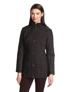 Anne Klein Women's Snap Front Quilted Jacket at MYHABIT