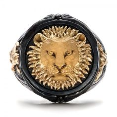 #BlackandGold Lion Ring | Capitan Collection