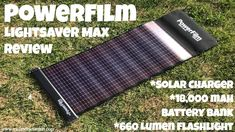 Powerfilm Lightsaver Max Solar Charger & Battery Bank Review