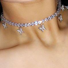 Tennis Chain Choker Halskette - The Ice Princess - - . Cute Jewelry, Jewelry Accessories, Jewelry Box, Jewelry Holder, Jewelry Scale, Wooden Jewelry, Bling Jewelry, Girls Jewelry, Turquoise Jewelry