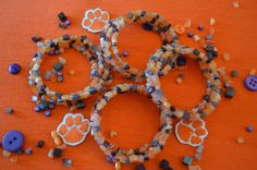 Clemson Girl Giveaway - Orange and purple gameday bracelet from @GreenTiger Jewelry