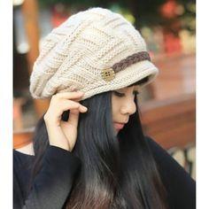 SODIAL(R) BšŠret Femme Chapeau Fille Hiver Chaud Tricotage Crochet Bonnet   Amazon.fr  Jeux et Jouets. meryem bka · les accessoires 433b82ec89e