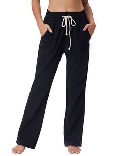 GRACE KARIN Women's Drawstring Linen Pants