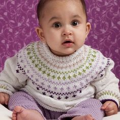 """Go to Knitting Fever and search """"free patterns"""" includes sweater, hat, socks, trousers - adorable - for beginners, use a varigated yarn or solid colors Kids Knitting Patterns, Knitting For Kids, Baby Patterns, Free Knitting, Knitting Projects, Knit Baby Sweaters, Toddler Sweater, Baby Knits, Knitting Pullover"""