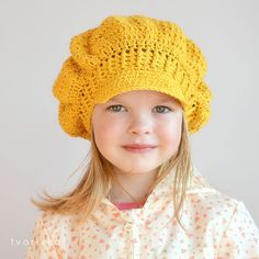 Ravelry: NEWSGIRL HAT pattern by Ivana Jackova CROCHET NEWSBOY NEWSGIRL HAT PATTERN  visor beret hat by tvorIvka, in 5 sizes: baby, toddler, child, teen, adult for girl and woman