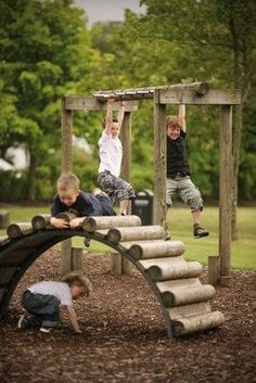 Natural Playscape #kids #backyard #playscapes