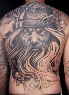 Germanic tribal tattoos with grey ink viking crazy tattoo