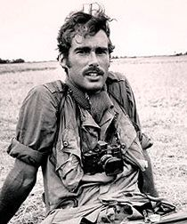 Sean Flynn the son of actor Errol Flynn, he went to Vietnam as a photojournalist for TIME, he was known to hang out with John Stienbeck's son while there. He went with speical force unites into the thick of things to get photos, tragically he disappeared in Cambodia and has never been seen again.