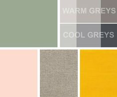 Industrial Materials For Your Interior -Shades Of Grey, Sage Green, Oatmeal & Set Against Some Blush Pinks & Mustard Yellows