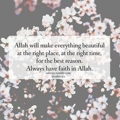Have faith in Allah. Best Islamic Quotes, Beautiful Islamic Quotes, Islamic Inspirational Quotes, Muslim Quotes, Religious Quotes, Allah Quotes, Quran Quotes, Words Quotes, Qoutes