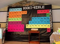 Table of Elements with the Books of the Bible. SonSpark Labs VBS