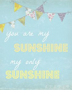You are my Sunshine nursery...gray and buttercream yellow...add blue for boy in accents...add pink for girl