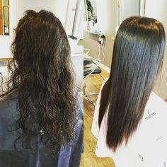 She got the permanent perm by Japanese straight perm!