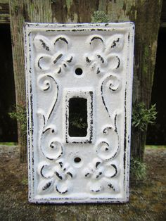 Shabby Chic Light Switch Plate Cover / Distressed by ShabbyAnchor, $8.99