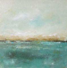 Abstract Seascape Ocean Original Art- Mendocino View 20 x 20. $265.00, via Etsy.