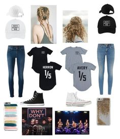 """""""Why don't we with my bestie. """" by alisa-avery ❤ liked on Polyvore featuring Burberry, 7 For All Mankind, Converse and Agent 18"""