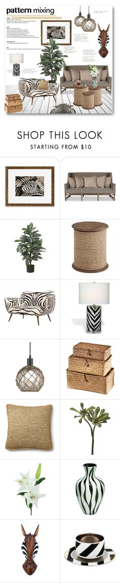 """""""Pattern Mixing"""" by anitadz ❤ liked on Polyvore featuring interior, interiors, interior design, home, home decor, interior decorating, Williams-Sonoma, Sarreid, Nearly Natural and Pier 1 Imports"""