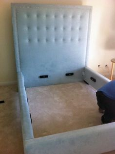 Padded headboard and bed.  Could possibly DIY