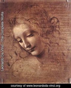 Leonardo Da Vinci - Head of a Young Woman with Tousled Hair (Leda)