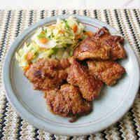 鶏もも肉の唐揚げ味のソテー