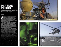 HMAS Melbourne in the Persian Gulf. From CONTACT issue 1, March 2004