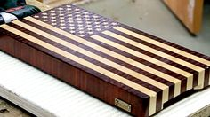 """US flag"" end grain cutting board"
