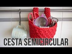Cesta rectangular de trapillo - YouTube