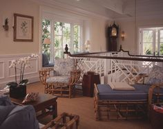 Exquisite Chippendale style stair railing