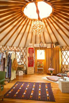 Workspace Tour: A Boho Backyard Dream Office in a Yurt | Apartment Therapy