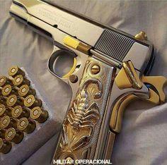 Weapons Guns, Guns And Ammo, Armas Wallpaper, 1911 Pistol, Mens Toys, Custom Guns, Metal Engraving, Cool Guns, Tactical Gear