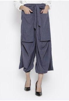 Wanita > Baju Muslim > Bawahan Muslim > Celana Muslim > Kulot Rample with Unieq Long Pocket in Blue Misty Colour > delarosa
